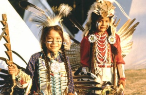 Children Dancers on the Wind River Indian Reservation, Wyoming