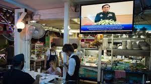 Courtesy of BBC. Gen Prayuth Chan-ocha addresses nation. 30 May 2014 Gen. Prayuth Chan-ocha's first televised address since the coup.
