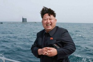 Kim Jong Un and a submarine
